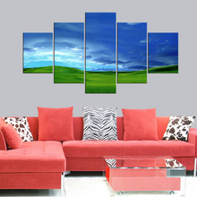 5 Pieces HD modern Blue Sky Grasslands Canvas Prints Painting Home Decor Wall Art Living room decoration painting Framed julyarts flower shape new dies for 2019 metal cutting dies for scrapbooking troqueles de corte de metal scrapbooking for cards
