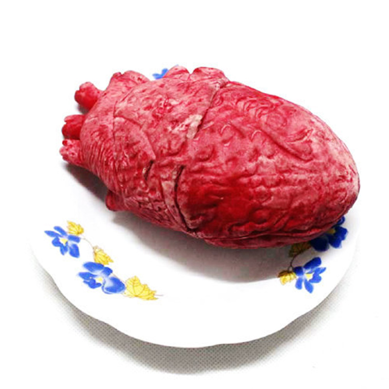 Bloody Zombie Food Human Heart Chop Shop Body Part Organ Halloween Horror Prop Toy Party ...