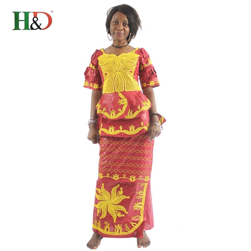 599348b0d H   D Tudo Africano roupas bazin riche para roupas femininas 2017 vestido  vetement femme africain tradicional bordado curto mangas compridas em Roupa  ...