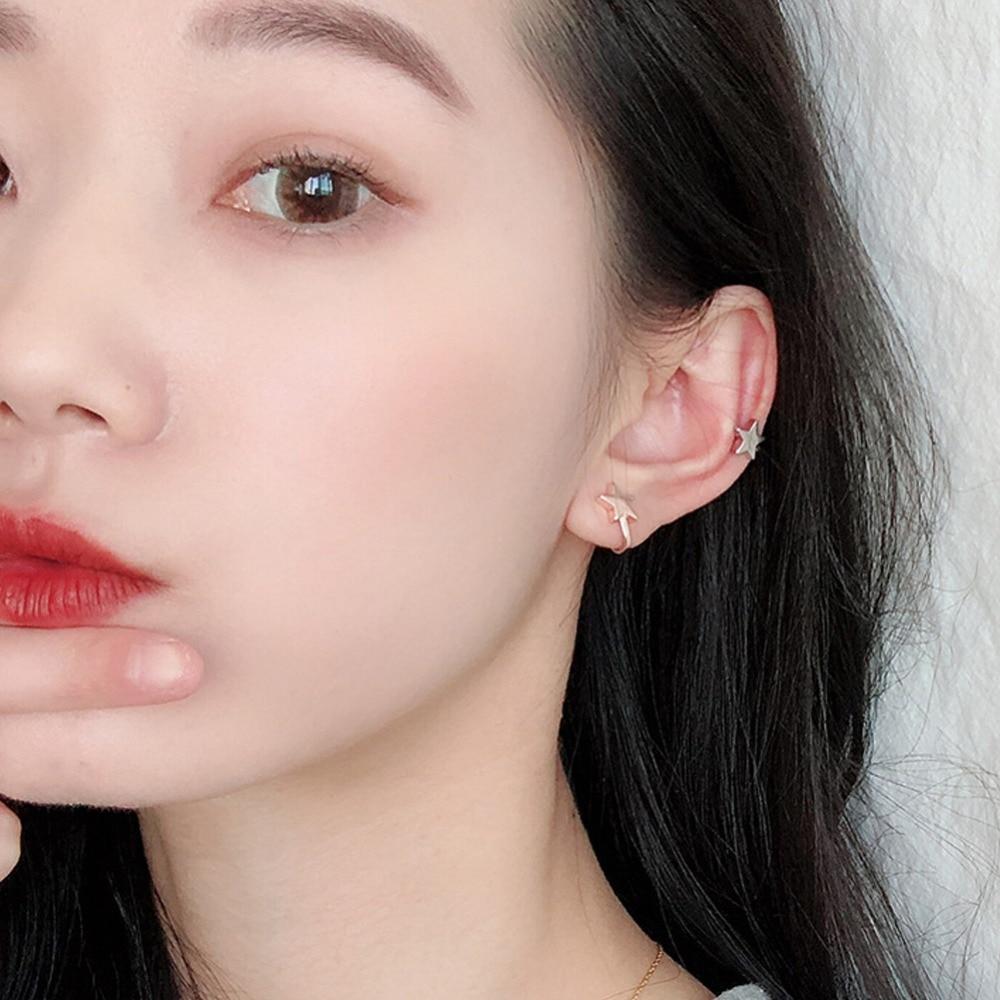 Earrings New 16 Style Gold Silver Brincos Girls Ear Clip Star Heart Flower Crown Ear Cuff Clip Earrings For Women Wedding Jewelry #273727