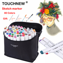 TOUCHNEW 80 Colors Sketch Marker Double Headed Alcohol Oily Mark Students Design Hand-painted Art Marker School Supplies multicolor 30 40 60 80 colors marker pen double headed nib student painting art school horticultural landscape design