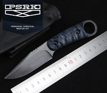 Very sharp High-end Brush Finish DC53 Blade Fixed Tactical mini Knife,Three Edge Survival Knives Fixed Blade