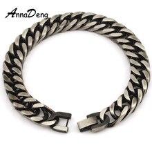 CHIMDOU Men Bracelet Silver Color / Gold Color Black Stainless Steel Bracelet & Bangle Male Accessory Hip Hop Party Rock Jewelry