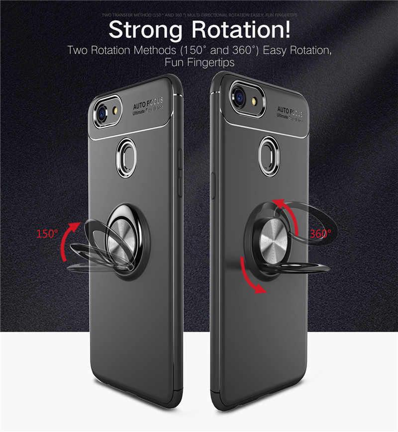 new style c3214 09670 Luxury Magnetic Ring Case For OPPO R15 Dream R17 Pro R9 R11 S Plus A37 A39  A57 A77 F3 A73 F5 A3 A5 A7 F7 F9 K1 Car Holder Cover