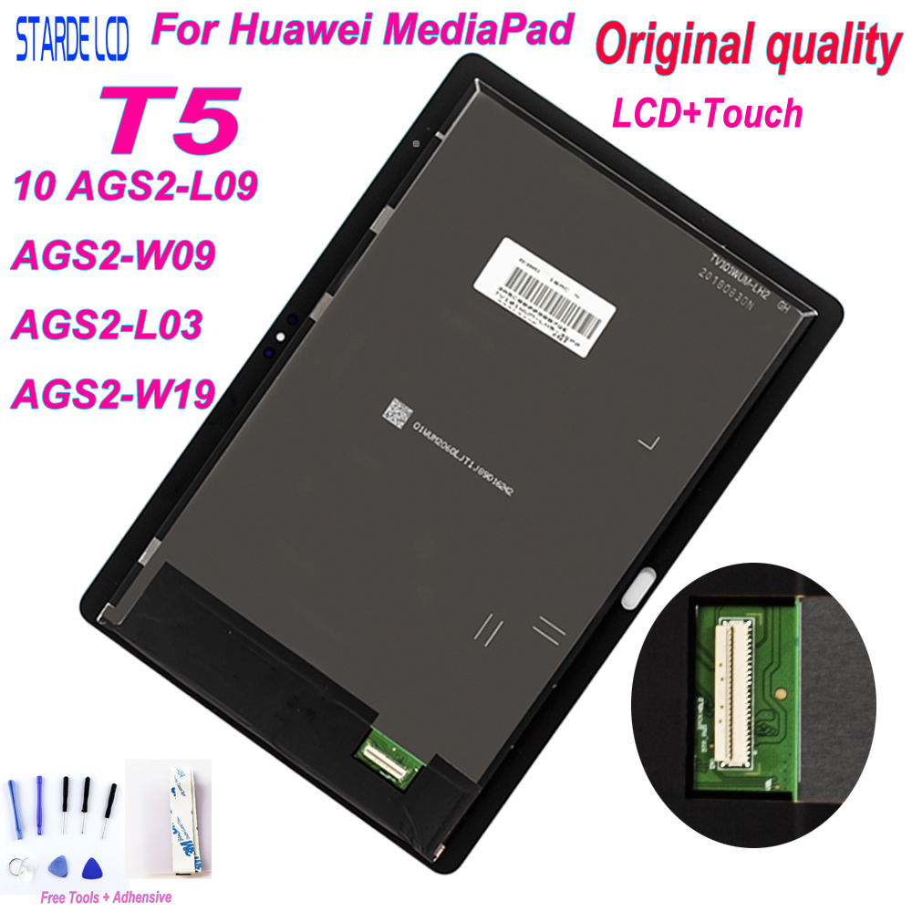 For 10.1' Huawei MediaPad T5 10 AGS2-L09 AGS2-W09 AGS2-L03 AGS2-W19 Version Lcd Display Touch Screen Digitizer Pannel Assembly