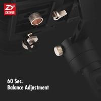 מצלמה קנון Zhiyun קריין פלוס 3 gimbal כף יד הציר מייצב 2.5kg 5.5lb Payload עבור סוני פנסוניק קנון ניקון Dsrl מצלמה (4)