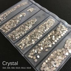 Multi tamaño 1300 Uds. Diamantes de imitación de cristal para SS4-SS16 de uñas strass para decoración de uñas decoraciones de diamantes de imitación piedras de uñas para accesorios de uñas