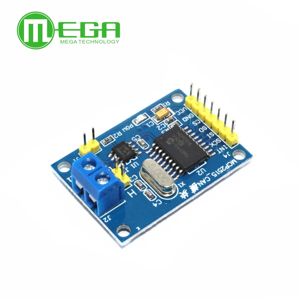 5pcs/lot MCP2515 CAN Bus Module TJA1050 Receiver SPI For 51 MCU ARM Controller