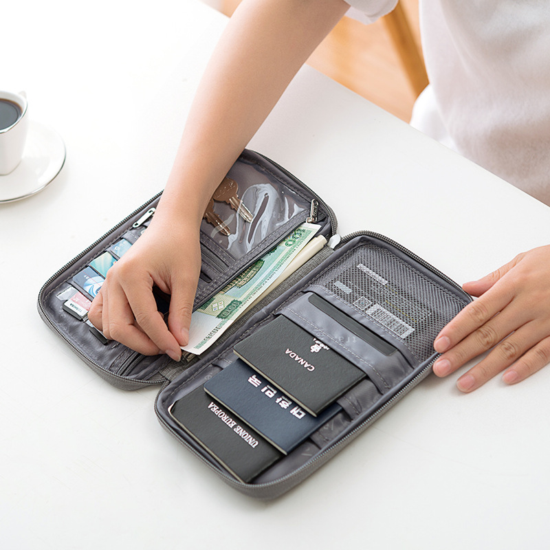 JULY'S SONG Multifunctional Credit Card Wallet Waterproof Travel Passport Wallet Portable Holder Card Package Cation Storage Bag