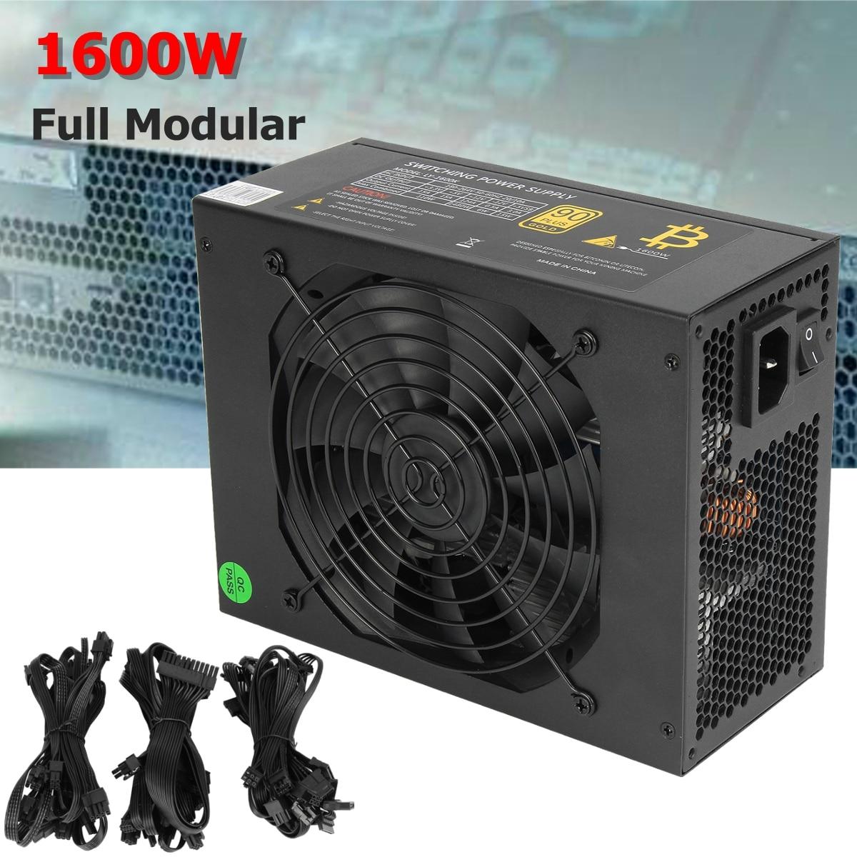 1600 w Modulare di Estrazione Mineraria di Alimentazione GPU Per Bitcoin Minatore Eth Rig S7 S9 L3 + D3 computer di Alta Qualità di Alimentazione Per BTC