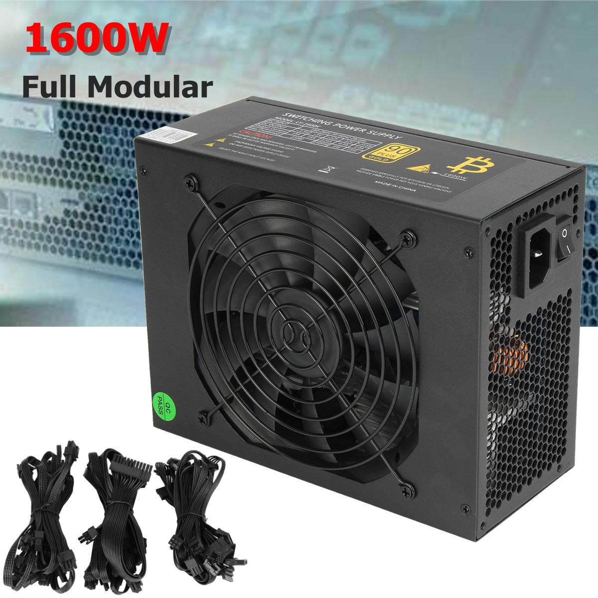 1600W Modular Mining Power Supply GPU For Bitcoin Miner Eth Rig S7 S9 L3+ D3 High Quality computer Power Supply For BTC цена 2017