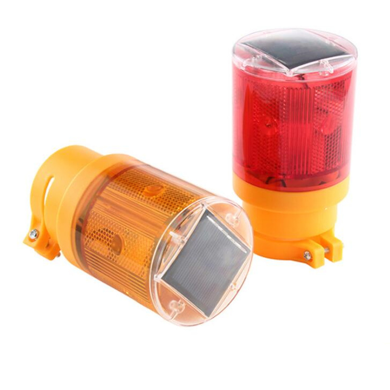 Safety Warning Traffic Construction Strobe Lights Just Solar Energy Red And Blue Flashing Lights Road Site Led Lighting At Night Selling Well All Over The World