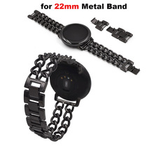 Купить с кэшбэком Smart Watch Bracelet Band 22mm Metal Steel Strap for Huami Amazfit Pace Stratos 2 for Huawei Watch GT Pro for Samsung Gear S3