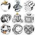 Wybeads encanto de prata corações amor limpar cz encantos europeus fit pulseiras & bangles diy acessórios jóias tomada original