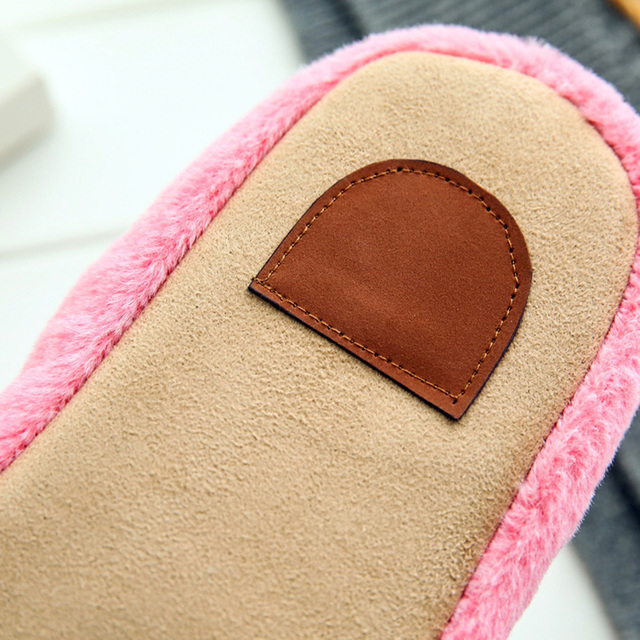 Women's Slippers interior house plush soft velvet cute Slipper Shoes non-slip floor furry Home Indoor women for bedroom neutral