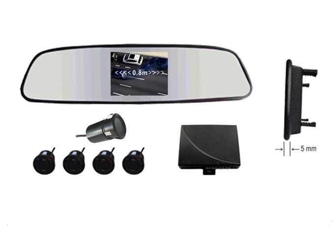 Вид сзади Парковка Камера системы/3.5 зеркало заднего вида монитор 2ch видео вход + обратный Камера (ИК + водонепроницаемый) + парковка Сенсор 4/