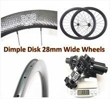Dimple 303 1580 г 45 мм клинчер u-образный дорожный дисковый диск Углеродные колеса прямые тяги 700c 28 мм Внешние дорожные дисковые тормоза карбоновые диски