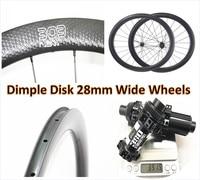 dimple 303 1580g 45mm clincher U shape road disc disk carbon wheels straight pull 700c 28mm external road disc brake carbon rims