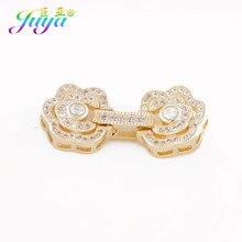 9e49a3f95f92 Nuevo diseño de la joyería componentes oro plata flor cierre Clousure  cierre accesorios para hecho