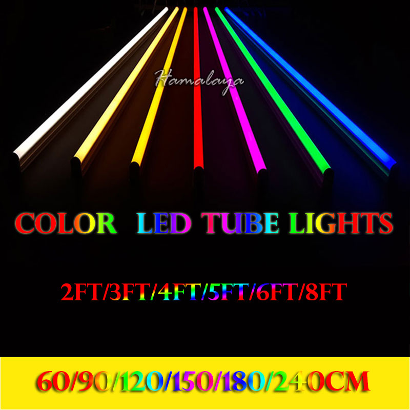 Toika 30pcs/lot 4ft 1.2m 20w led T8 led tube bulb light lamp red/green/blue 4ft 1200mm Top quality SMD 2835 AC85-265v LED ...