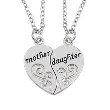 2 шт/компл ожерелье пазл в форме сердца сращивающееся для матери