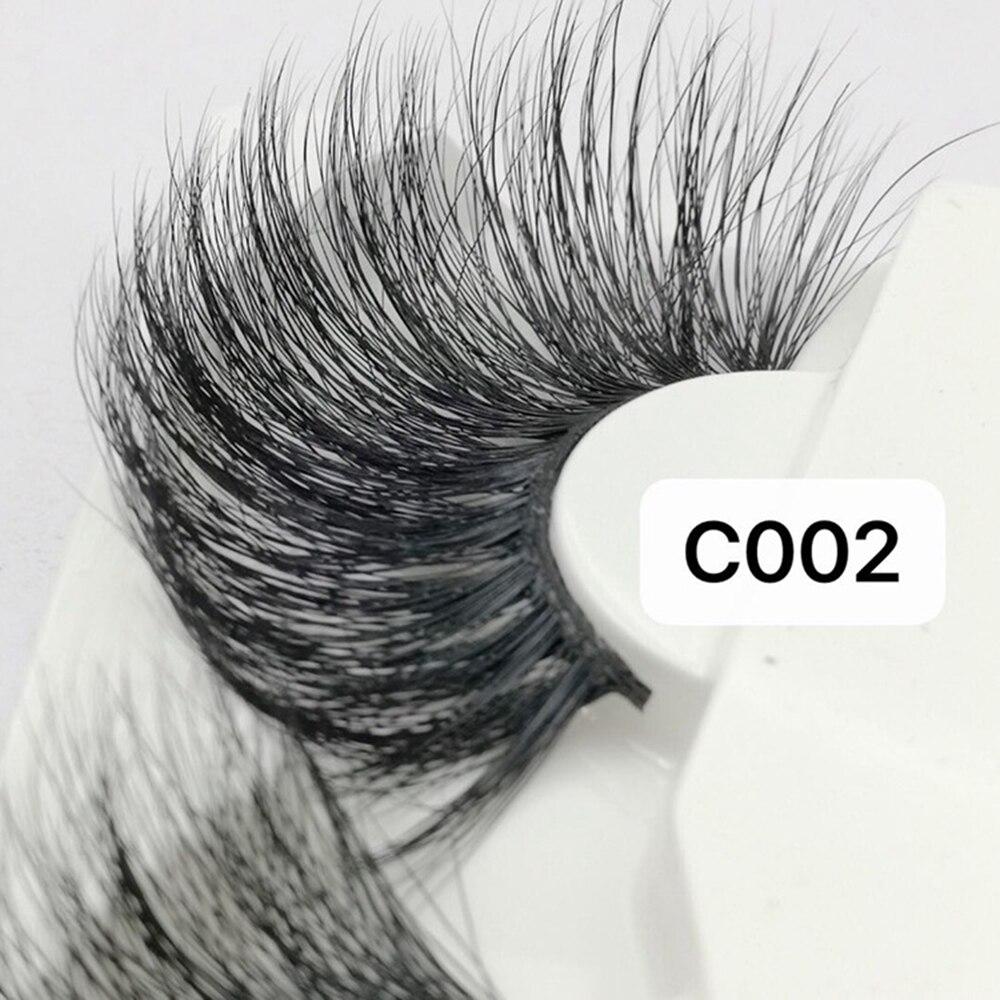 1 Pair 30mm Mink Lashes 100% Mink Hair False Eyelashes Wispy Fluffy Lashes Eye Makeup Tools Multilayers Handmade Natural Lashes