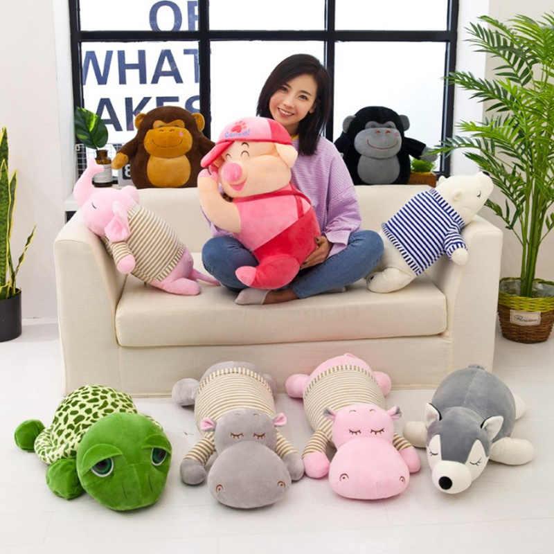 Almohada de forma de dibujos animados con manta de franela para niños relleno de algodón de seda muñeca de juguete Cervical dormitorio almohada para dormir