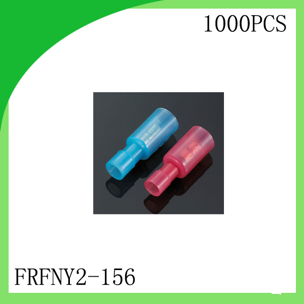 Brass 1000 PCS FRFNY2-156 FRFNY Female White/Red/Blue cold-pressed terminal Connectors and Splices For 0.3-2.5mm2,24-14 AWG
