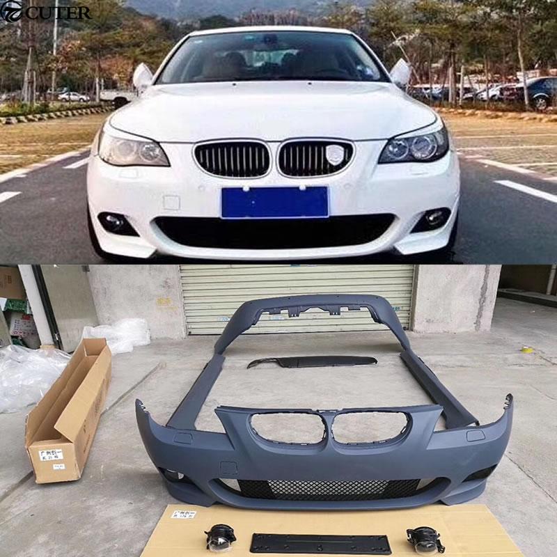 E60 M TECH Car body kit PP Unpainted Front Rear bumper side skirts for BMW E60 525i M TECH 05 10|kit car bodies|side skirts|side skirts for cars - title=
