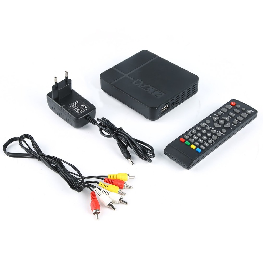 Receptor de Sinal de TV Totalmente para DVB-T dvb-t2 Digital Terrestre DVB T2/H.264 DVB T2 Timer Suporta para Dolby PVR