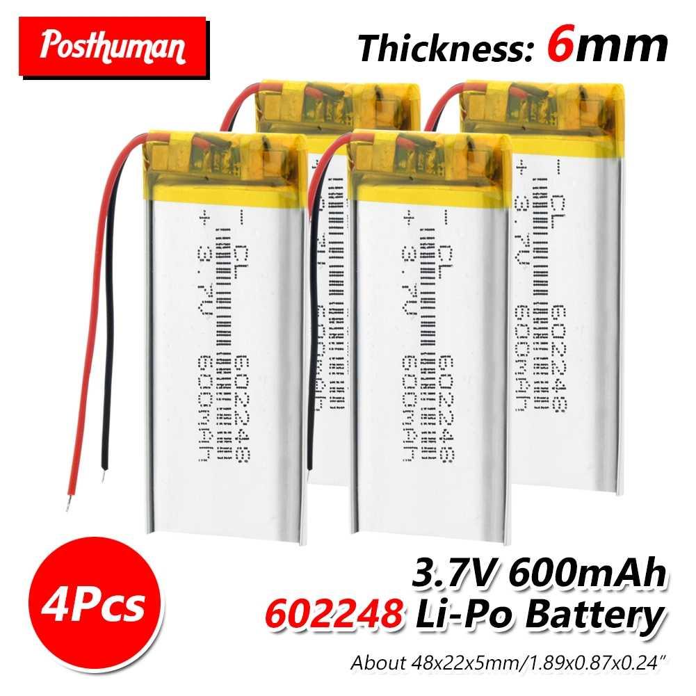 602248 3,7 V 600 mAh Батарея литий-ионный Lipo Клетки литий Li-Po полимера Батарея для gps MP3 MP4 Оборудование для psp Bluetooth Динамик