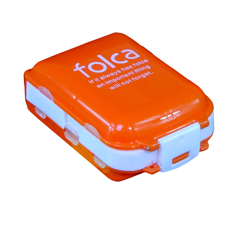 Карман 8 ячеек таблетки для хранения Коробки Путешествия складной Витамин Медицина таблетками Box Макияж организации Дело Контейнер Коробки