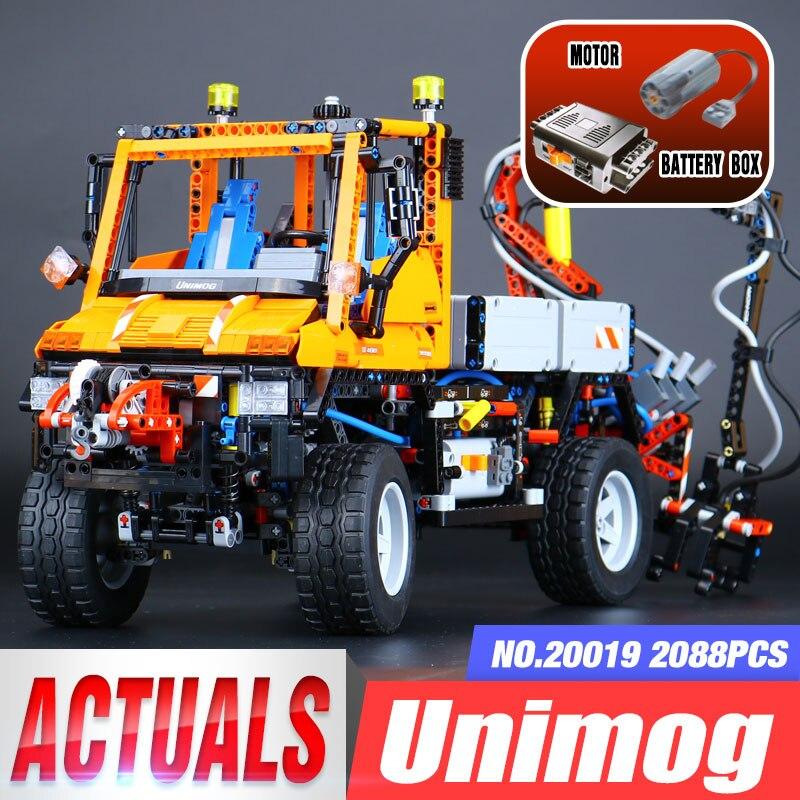 LEPIN 20019 2088 pcs Technic Camion Unimog U400 Modélisme Kits Blocs Briques Drôles Compatible Jouets legoing 8110 pour Enfants