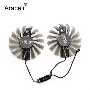 2pcs/set 95mm GAA8S2H GTX 980 Ti Alternative GPU VGA Cooler Fan For MAXSUN Palit GTX 980Ti Grahics Card VGA Replacement