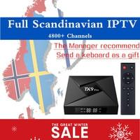 TX9 PRO IPTV Box Android Tv Box Best Scandinavia Iptv 4700 Channels Europe Sweden Norway Denmark