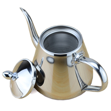 Neue stil edelstahl Teekanne und Kaffee Tropf Wasserkocher topf teekanne mit sieb oder filter kleine wasserkocher für Barista