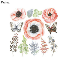 Prajna Flower Butterfly Unicorn Iron-On Heat Transfers Stickers For Clothes T-Shirt DIY Decoration Iron On Vinyl Thermal Patch