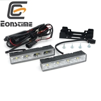 2cps White 9V 30V Power Highlight LED Daytime Running Lights DRL 6000K Ultra Low Power Consumption