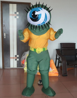 Adulto traje da mascote do globo ocular