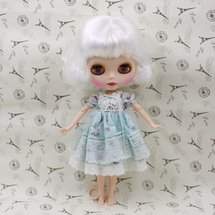 все цены на  Beaukiss Nude Blyth Doll With Joint Body White Bangs Short Hair Fashion Blyth Doll Model DIY Toys  в интернете
