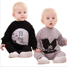 2016 new baby clothing baby boy clothes baby girl long sleeve baby Romper climbing Infant clothes set newborn