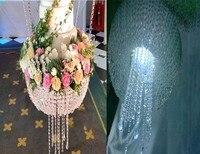 2018 suspending cake chandelier Wedding Cake Stand Crystal wedding big cake flower holder with multicolor light(D=60CM)