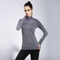 2017 Camisas Femenina Ropa Deportiva Women Long Sleeve Yoga Shirts Dry Quick Tee Top For Gym Running Fitness Professional Yg10
