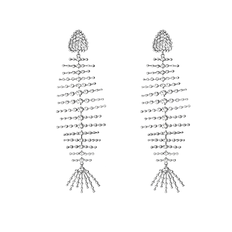 Industrie lourde perceuse Flash poisson os atmosphérique longue boucle d'oreille femelle