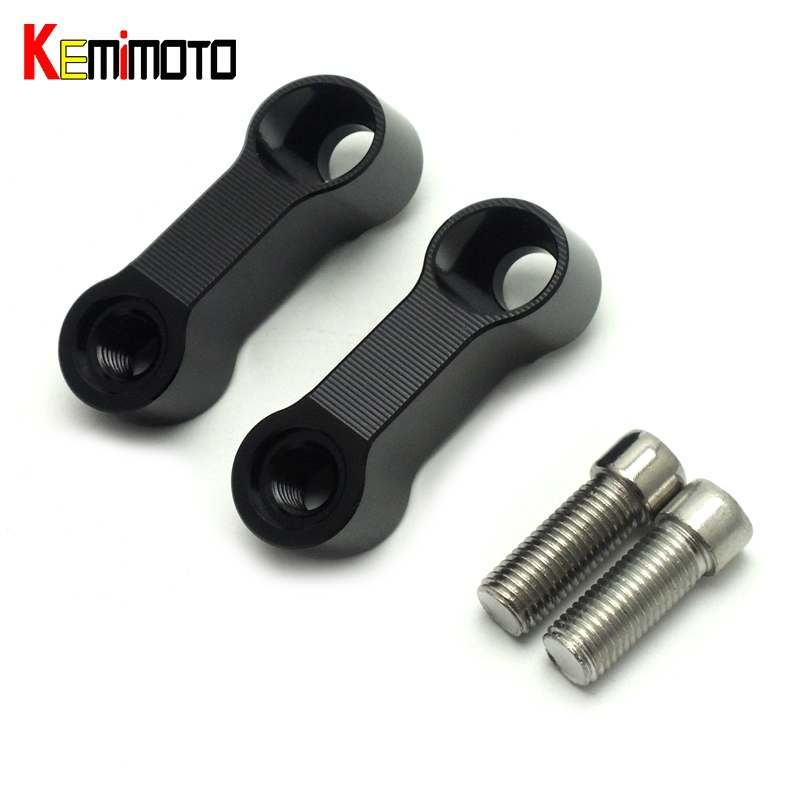 Kemimoto mt09 mt07 espelhos extensão riser estender adaptador para yamaha mt 09 07 fazer FZ-09 v-max 1700 parafusos tamanho 10mm 0.4 polegadas