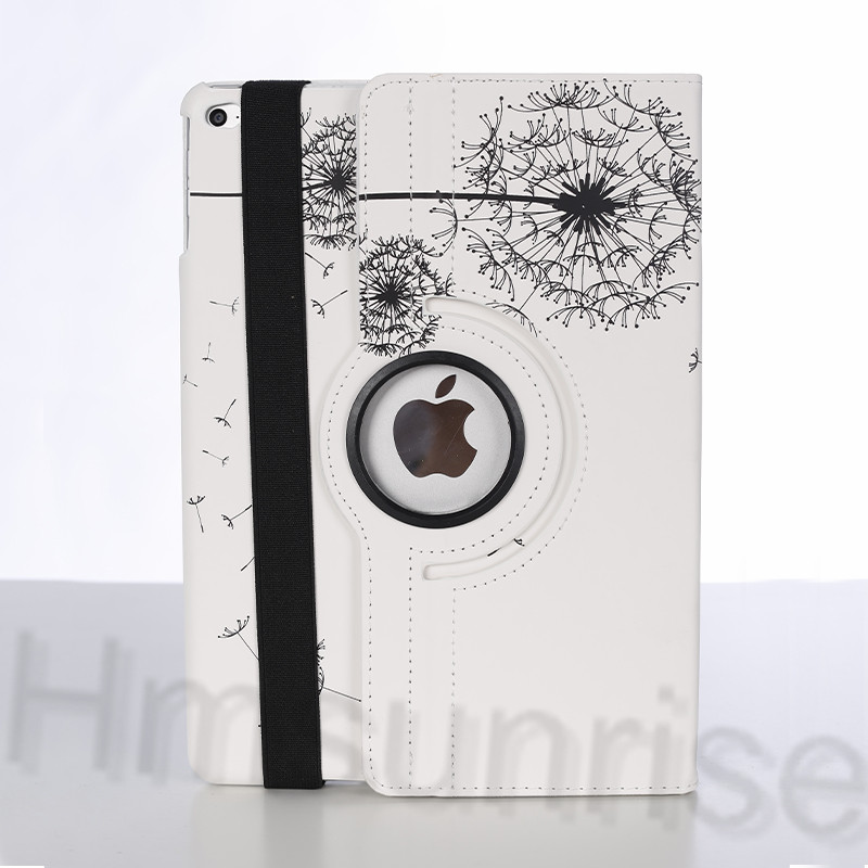 360 Rotating Print Cover For Apple Ipad Air 1 Dandelion Pattern PU Leather Case