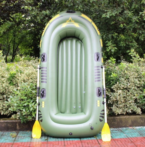Swimming Equipment Environmental Thickening Rubber Boat 2,3,4 People Charge Boat Fishing Hard Bottom Inflatable Swimming Boat