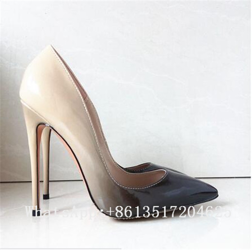 ФОТО Sexy Pointed Toe High Heels Women Pumps Fashion Stiletto Women's Party Shoes Slip On Gradient Color Wedding Shoes