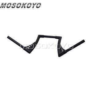 "Image 4 - Motorcycle Black APE Hanger Handlebars 12"" Rise Drag Fat Bar 30.5"" Wide for Harley Softail FLST FXST Sportster XL Touring"