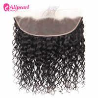 Pelo AliPearl brasileño con onda de encaje Frontal 13x4, pelo humano de bebé, línea de cabello Natural, Color 1b, cabello Remy, envío gratis